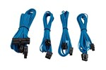 CP-8920147 - Corsair Premium Individually Sleeved PSU Cable Kit Starter Package Type 4 (Generation 3) - Blue