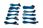 CP-8920154 - Corsair Premium Individually Sleeved PSU Cable Kit Pro Package Type 4 (Generation 3) - Blue