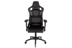 CF-9010001-WW - Corsair T1 RACE Gaming Chair - Black Gamer Stol - Svart - PU skinn - Opptil 120 kg
