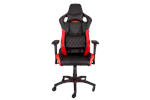 CF-9010003-WW - Corsair T1 RACE Gaming Chair - Red Gamer Stol - Svart / Rød - PU skinn - Opptil 120 kg