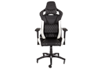CF-9010002-WW - Corsair T1 RACE Gaming Chair - White Gamer Stol - Svart / Hvit - PU skinn - Opptil 120 kg