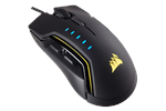 CH-9302011-EU - Corsair Gaming GLAIVE RGB Mouse - Black - Gaming Mus - Optisk - 6 knapper - Sort