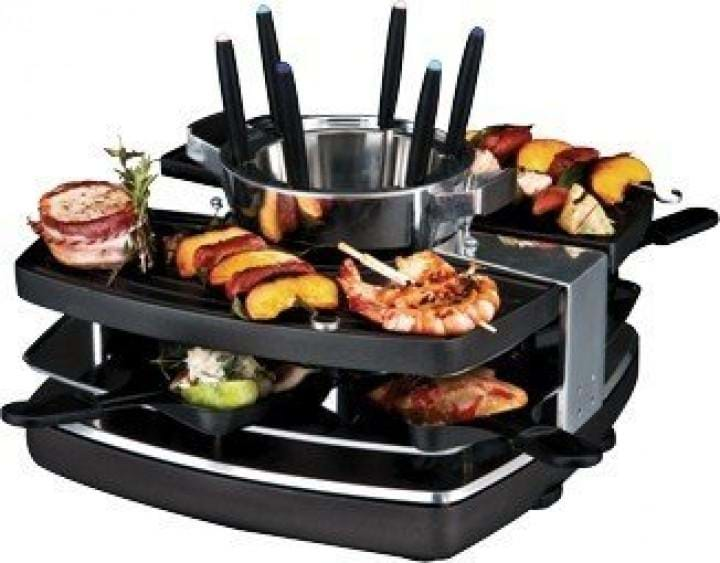 gastroback 42559 raclette fondue set 1400w sort billig. Black Bedroom Furniture Sets. Home Design Ideas