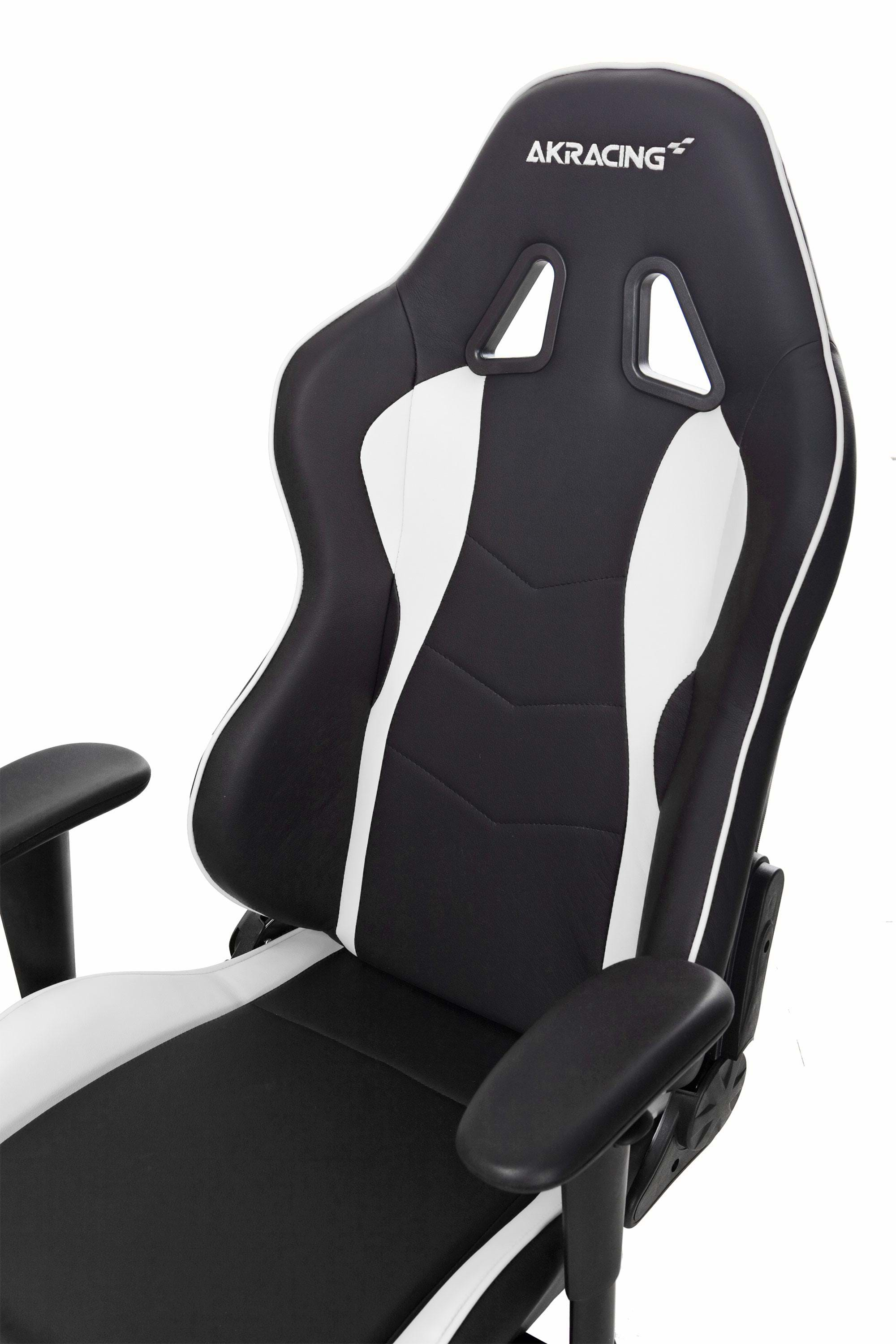 akracing nitro gaming stuhl wei gaming stuhl schwarz wei pu leder bis zu 150 kg. Black Bedroom Furniture Sets. Home Design Ideas