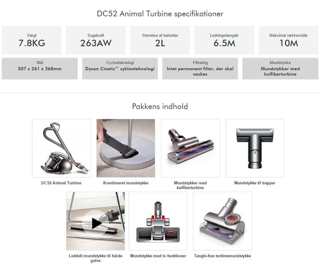 dyson st vsuger dc52 animal turbine billig. Black Bedroom Furniture Sets. Home Design Ideas
