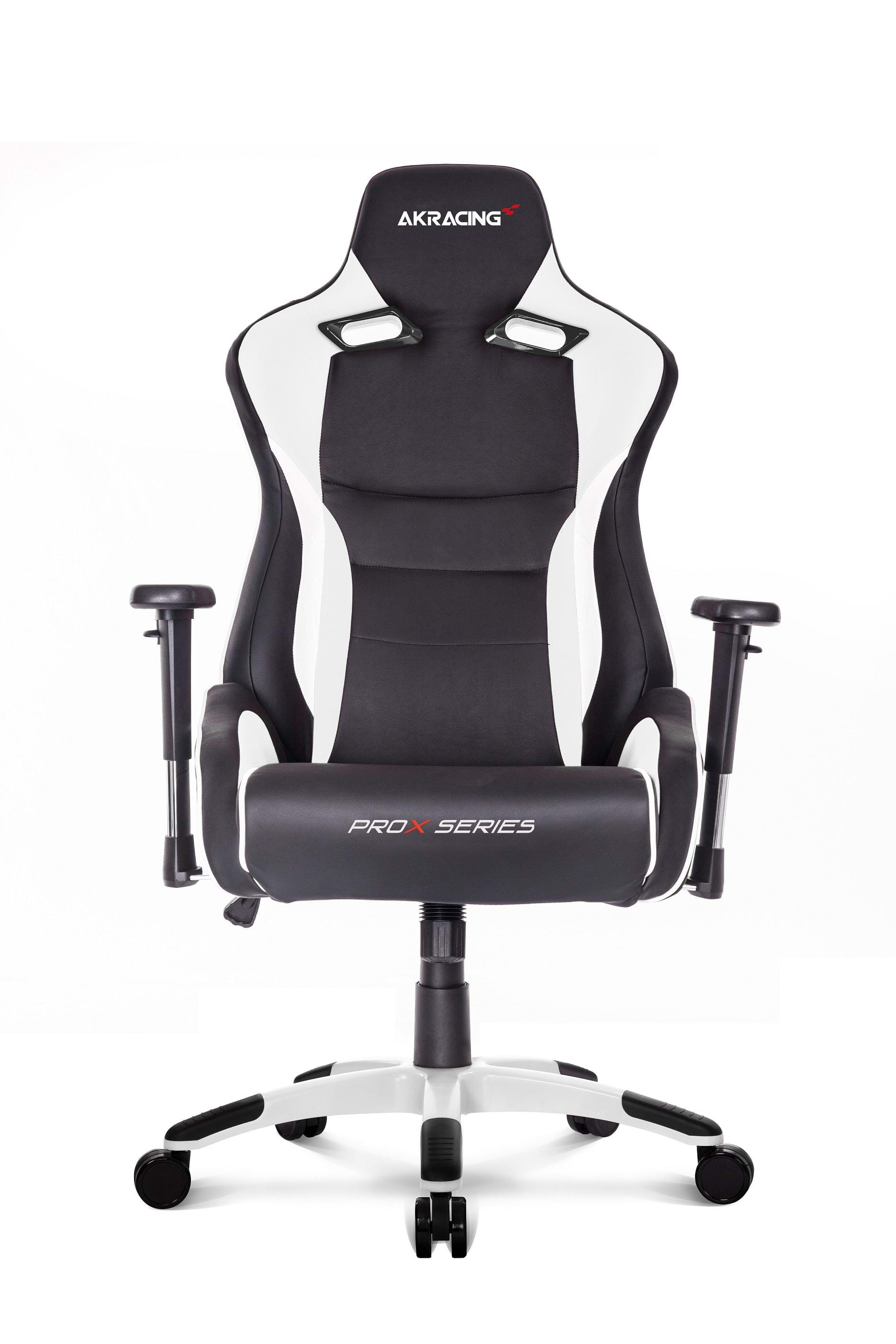 akracing prox white gaming stuhl schwarz wei pu leder bis zu 150 kg. Black Bedroom Furniture Sets. Home Design Ideas
