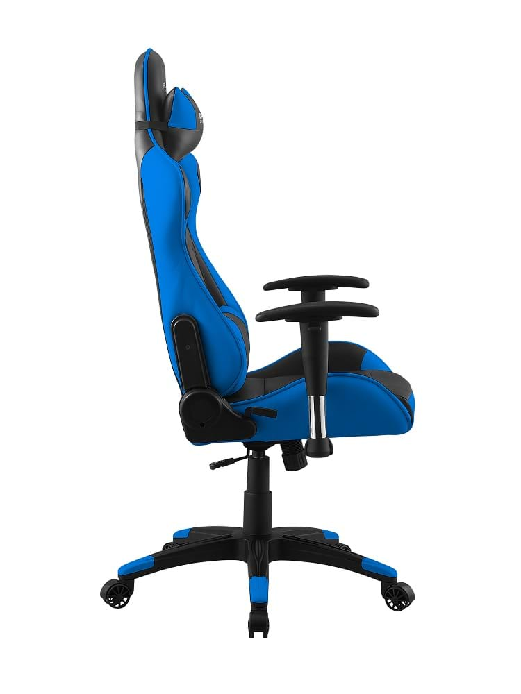 alphagamer pulse blue gaming stuhl schwarz blau pu leder bis zu 150 kg. Black Bedroom Furniture Sets. Home Design Ideas