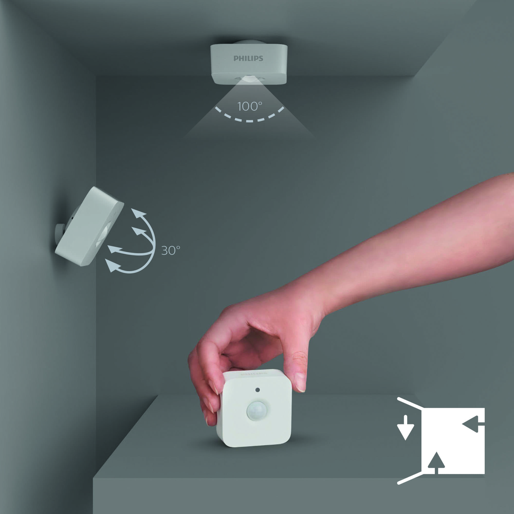 philips hue motion sensor wireless light switch auf lager g nstig. Black Bedroom Furniture Sets. Home Design Ideas