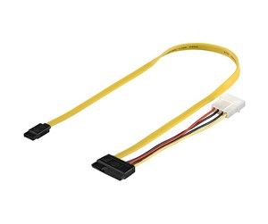 4040849681752 - Pro SATA Cable & Power - 0.50m