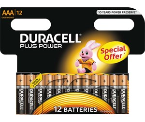18631 - DURACELL Plus Power AAA - 12 Pack