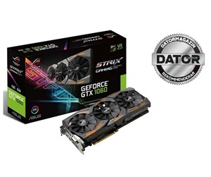 90YV09Q0-M0NA00 - ASUS GeForce GTX 1060 Strix OC - 6GB