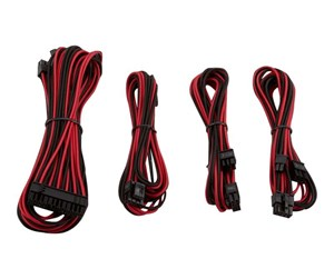 CP-8920148 - Corsair Premium Individually Sleeved PSU Cable Kit Starter Package Type 4 (Generation 3) - Red/Black