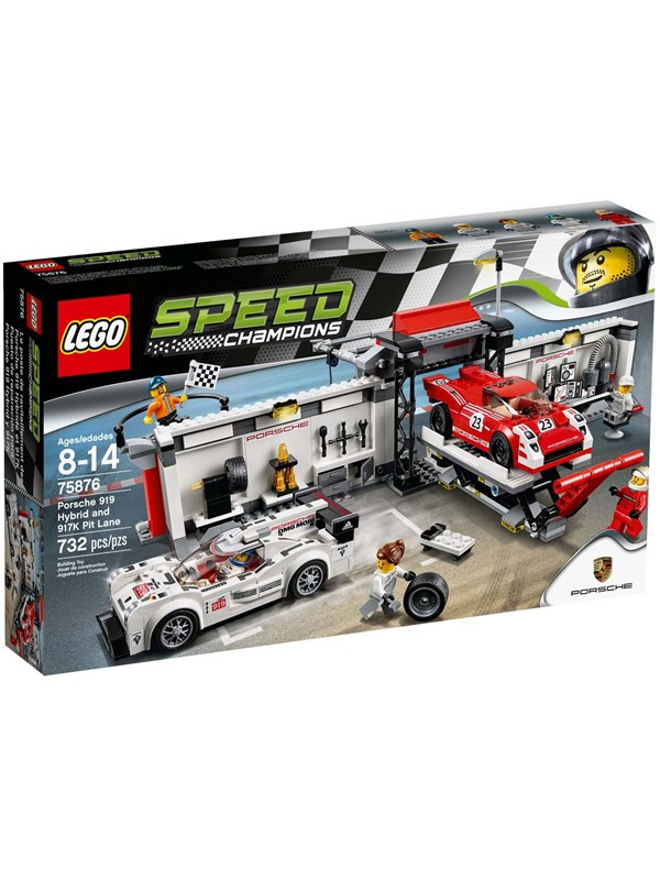 lego porsche 919 hybrid 917k pit lane 75876. Black Bedroom Furniture Sets. Home Design Ideas
