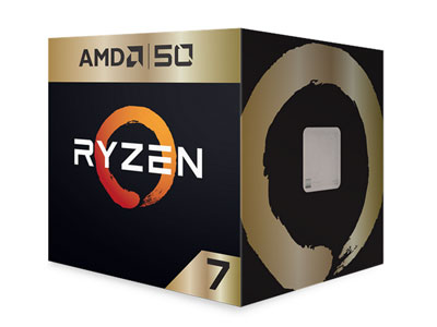 AMD Ryzen 7 2700X Gold Edition with Wraith Prism